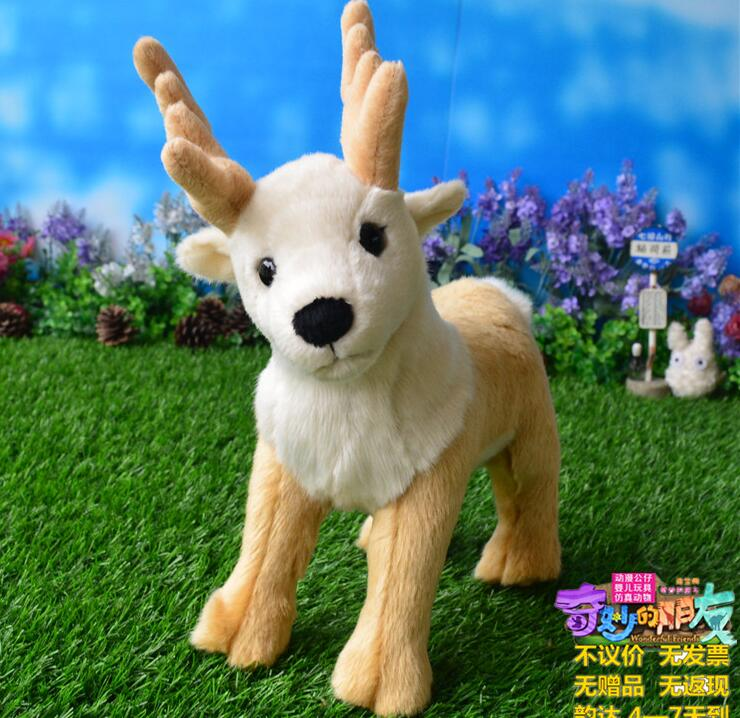 ФОТО Stuffed Reindeer Doll  Plush Toys  Christmas Gifts  Children'S Toy  Simulation Elk  Decoration