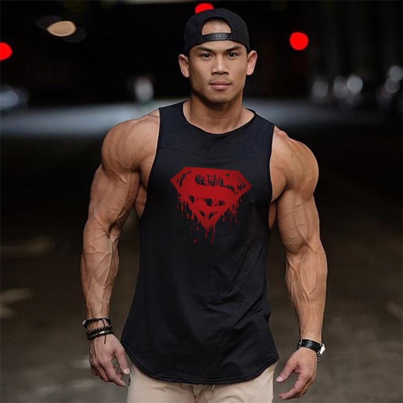 New design Men Brand Gyms Sleeveless Bodybuilding   Tank     Tops   Men's Summer Muscleguys Fitness Vest Casual O-neck Men   Tank     Tops
