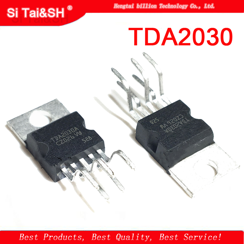10pcs <font><b>TDA2030</b></font> TO220-5 TDA2030A TO-220 linear audio <font><b>amplifier</b></font> short-circuit and thermal protection IC image