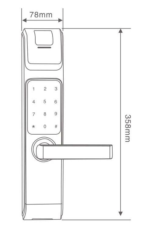 LACHCO 2017 Ny ankomst Biometrisk Smart dörrlås Digital pekskärm - Säkerhet och skydd - Foto 4