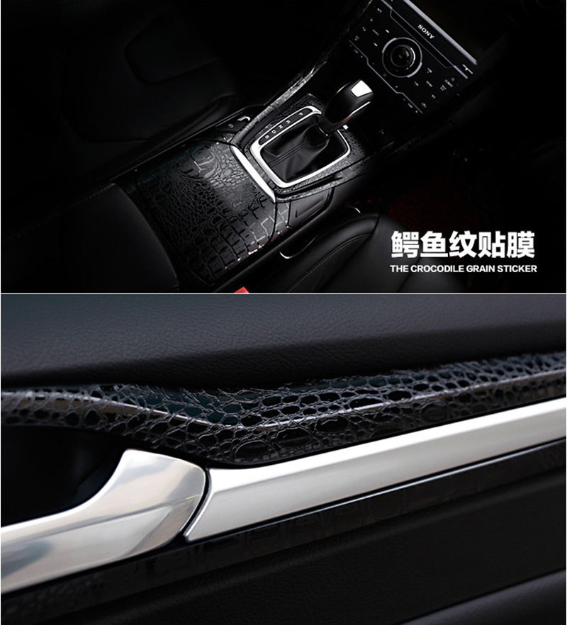Image 5 - 3D Car Simulation Snake Faux Crocodile Skin Leather Sticker Film Crack Design Interior Decoration Motorcycle Car Styling ORINO-in Car Stickers from Automobiles & Motorcycles