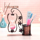 Hanging Hourglass Pen Holder Gift Iron Furnishings Home Decor Organizer For Pens Office Accessories Container Chancery DD1753