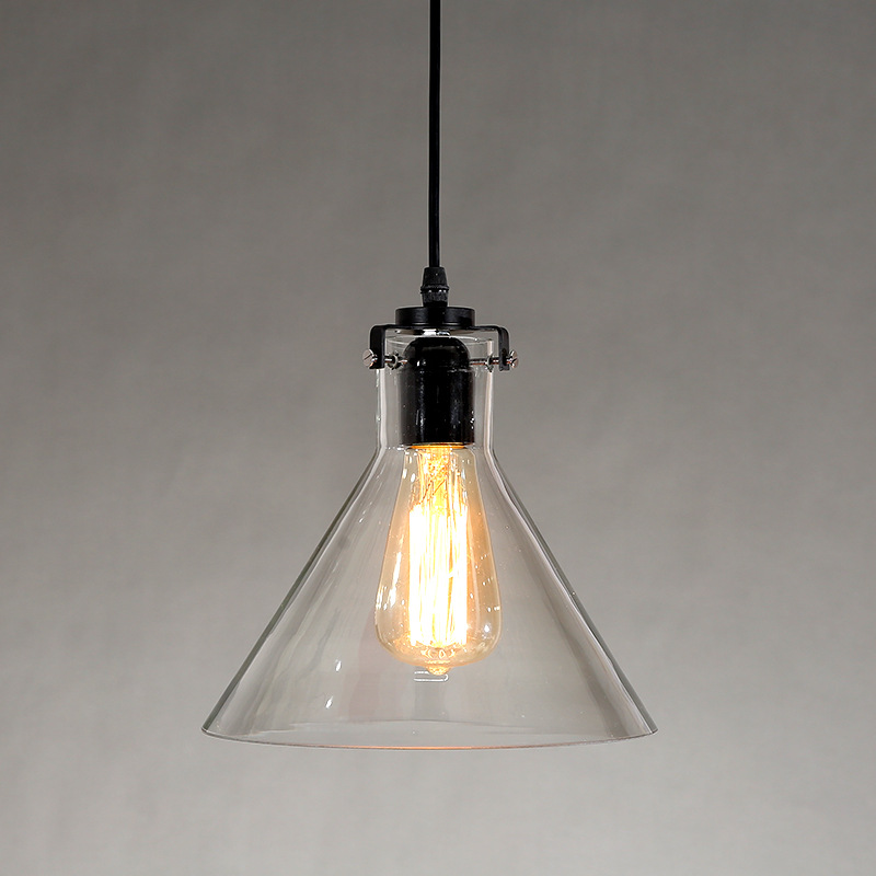Loft RH Industrial glass Pendant Lights American Country Lamps Vintage Lighting for Restaurant/Bedroom Home Decoration rh loft vintage decoration pendant lamp