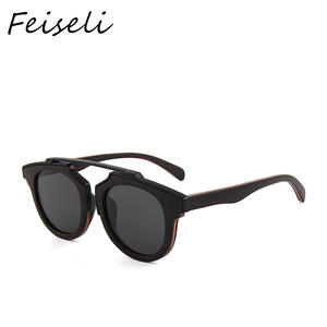Feiseli Bamboo Sunglasses Handmade-Products Eyewear Frame Wooden Retro Vintage New-Fashion