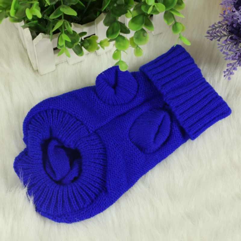 1 шт. зимняя теплая одежда для домашних животных свитер для собаки для кошки вязаный джемпер с капюшоном куртка для щенка зимняя теплая одежда Apperal