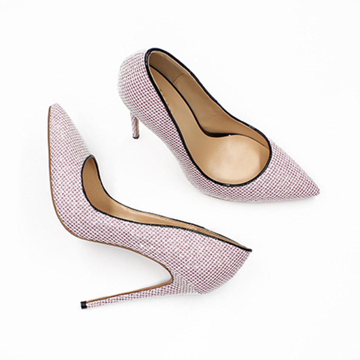 Aiyoway red Automne De Mince Femmes Pompes Slip sur gold Sexy Partie Glitter Dark Mariage Dames 2019 Haute grey Red Chaussures Pointu Talons Printemps Bout pink ppSwrvq