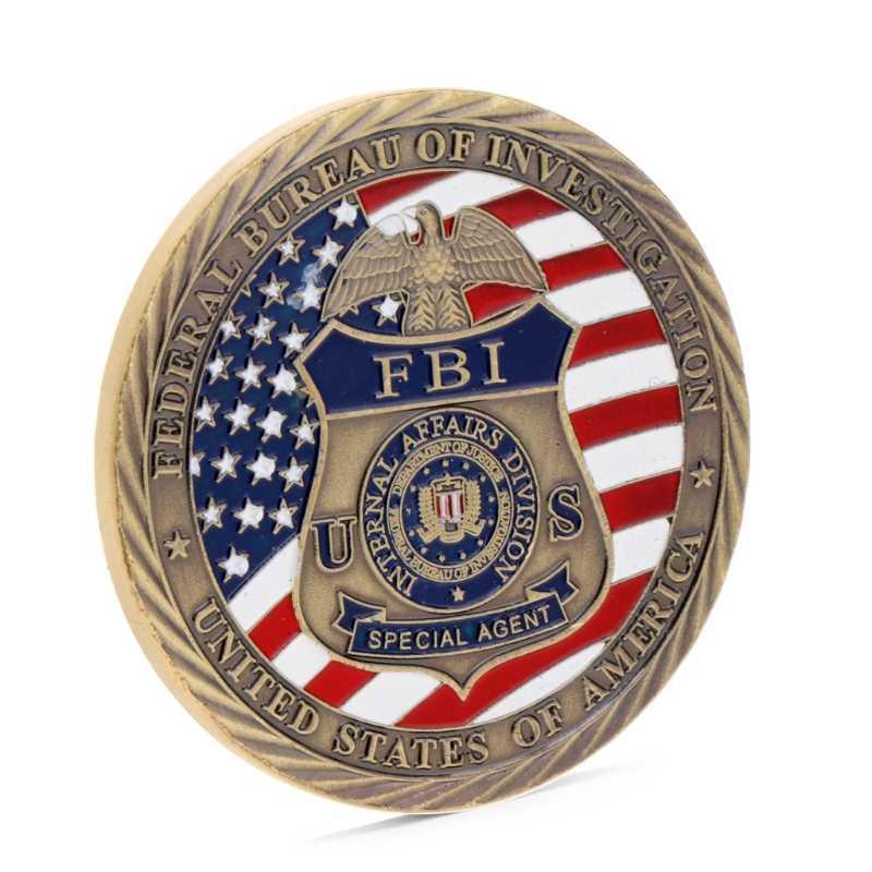 2019 Nova EUA FBI Saint Michael Comemorativa Desafio Moedas Coleção Token Do Ofício Da Arte do navio Da Gota