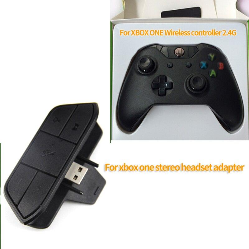 Galleria fotografica Auricolare Stereo Auricolare Adattatore Audio Adattatore Per Cuffie Convertitore Per <font><b>Microsoft</b></font> Xbox One Game Controller Wireless Nero Libera La Nave