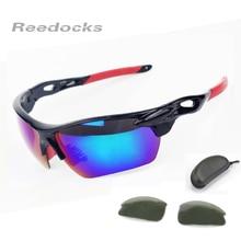 Reedocks 2 Lens Professional HD Fishing Glasses Men Women Night-vision Outdoor Sport Eyewear UV400 Fishing Polarized Sunglasses
