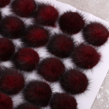 5pcs DIY 5cm Mink Pompoms Fur balls for Sewing On knitted beanies keychain and scarves shoes Hats fur pom pom DIY Accessories