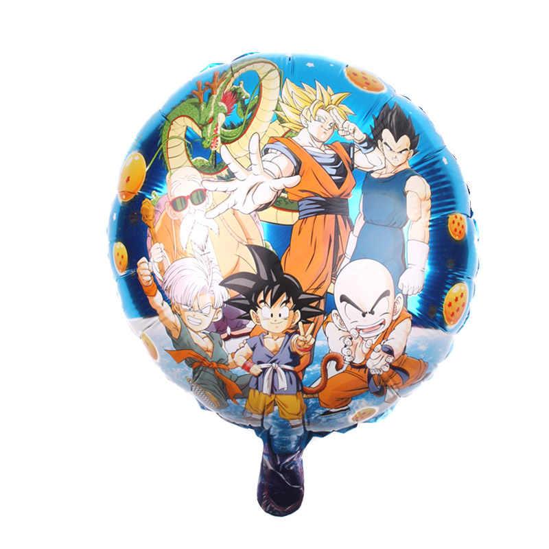 18 polegadas dupla face dragon ball foil balões menino festa de aniversário super bola decoração suprimentos globos de ar presente das crianças 45cm * 45cm