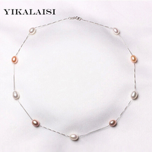 YIKALAISI 2017 Natural Pearl Chokers Necklaces 925 sterling Silver Jewelry For pearl Women Necklace Accessories wedding Gift