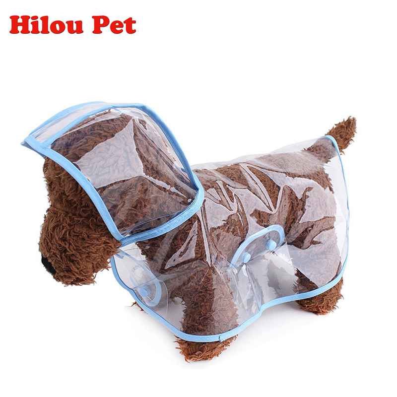 Dog Rain Clothes Transparent Raincoat Light Clothes Waterproof Fashion Small Large Dog Raincoat with Hood