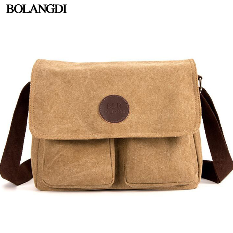 Men Canvas Shoulder Bag Male Casual Messenger Bags School College Canvas Single Shoulder Bags For Teenagers Male Cross body Bags