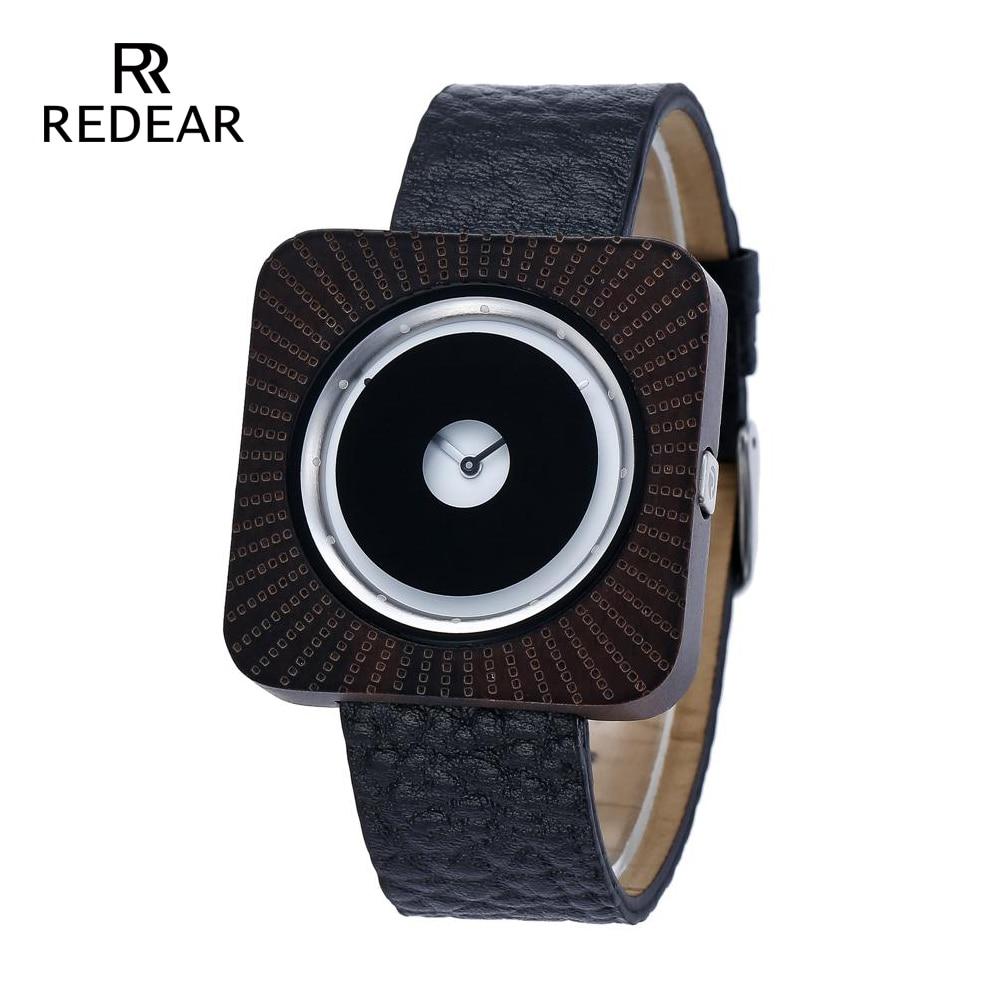 REDEAR Black Sandalwood Watch kellad bambusest Watch naiste puidust - Naiste käekellad