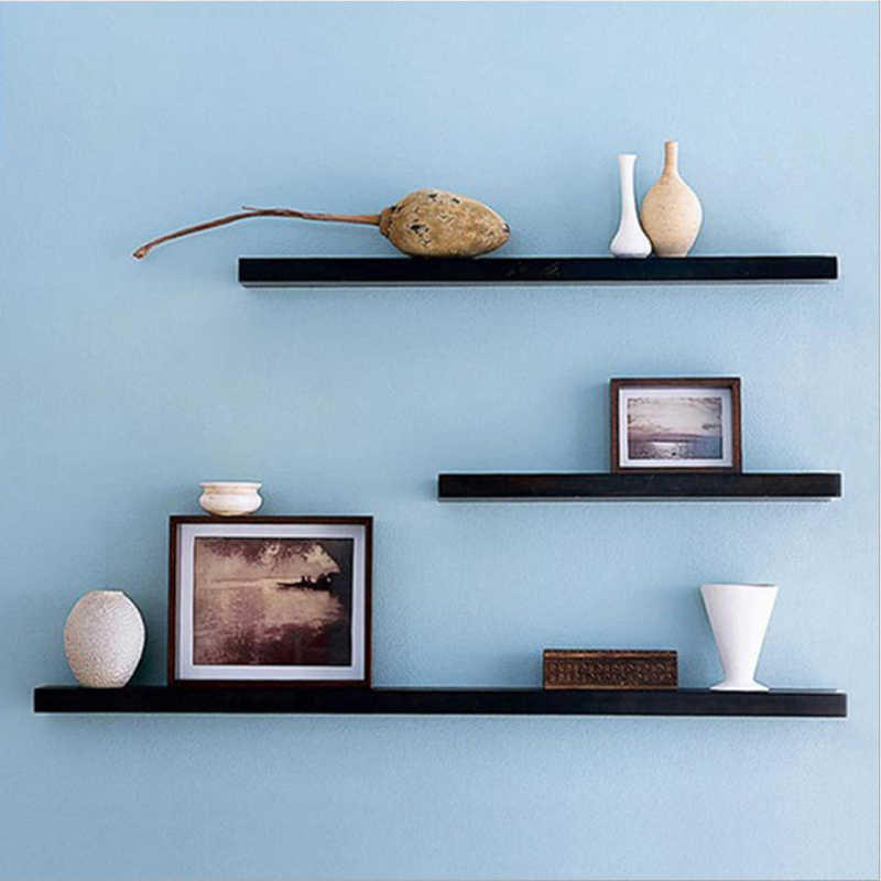 Wall Decoration Rack multi-functional Rope Wall Solid Wood Wall Hanging Living Room Wall Decoration Shelf Home Finishing Storage
