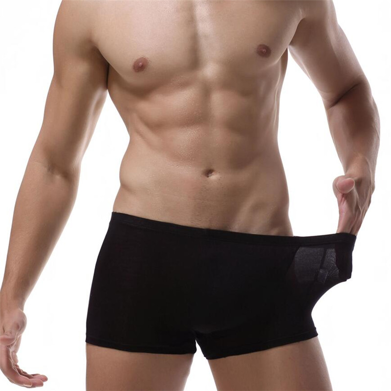 Boxer Homme Cueca Masculina Best Price Solid Classic Bamboo Mens Underwear Boxer Sexy Men Crotchless For Cuecas Masculina De
