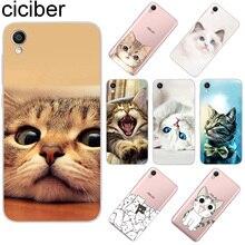ciciber For ASUS ZenFone Live L1 V 3 GO Zoom S Soft TPU Phone Cases For ASUS ZenFone MAX Lite Plus Pro M1 Cute Funny Cat Coque