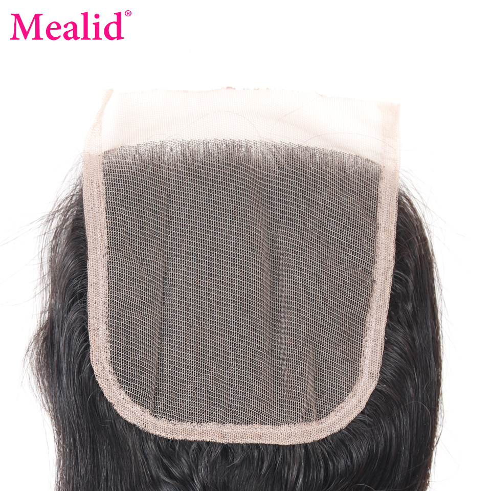 [Mealid] Brazilian Loose Wave Closure Free Part 1 Piece Only Remy Natural Color 8-20 Human Hair Lace Closure