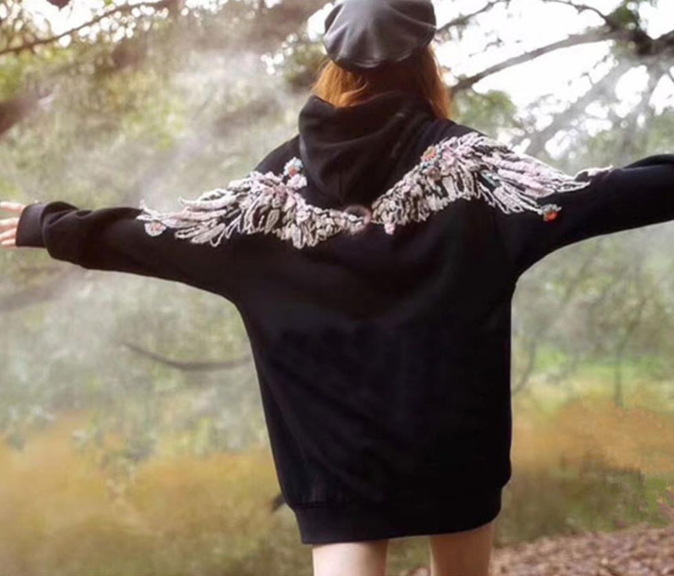 100% хлопок хорошее качество Вышивка Пуловеры Топы женские с длинным рукавом Повседневный стиль толстовки Весна Новые модные брендовые пальто gx1674 - 4