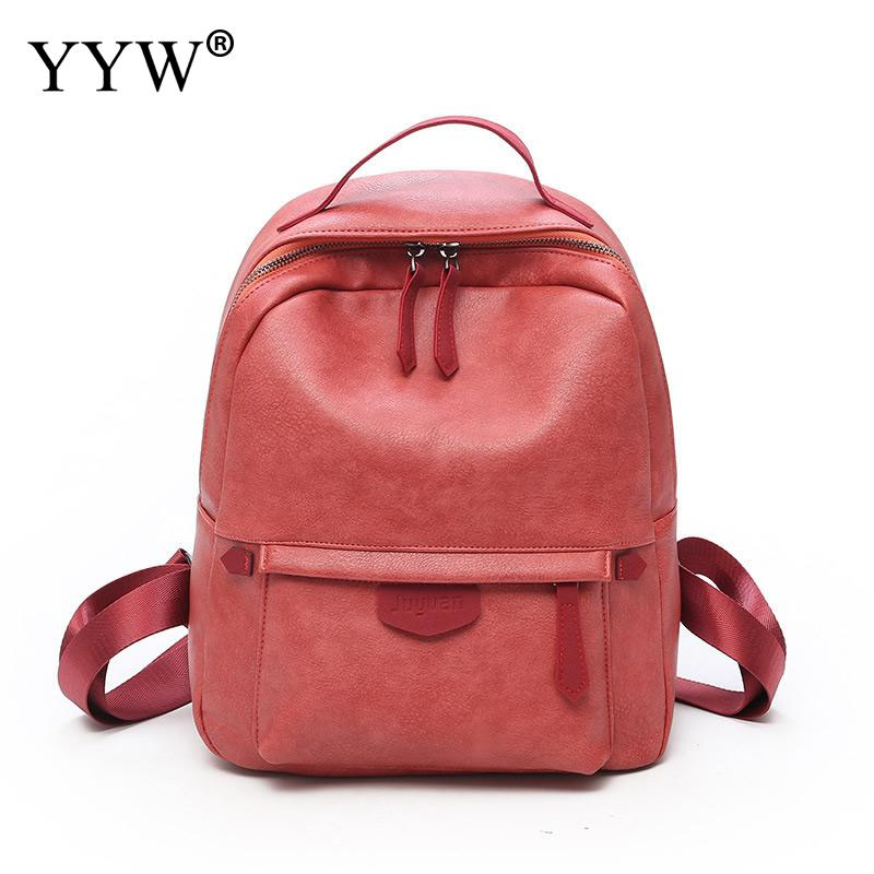 f9bcdbc31d Mini Cheap Bags Pu Leather Backpack Luxury Solid School Bags For Teenager  Girls High Quality Female Preppy Style Small Backpack