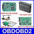 Versão mais recente Programador ECU KTAG KESS V2 V2.13 + V2.30 + FG TECH Galletto 4 V54 + QUADRO BDM Completo adaptadores Não Tokens DHL Livre