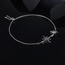 FXLRY חדש עיצוב אישיות אופנה נשים כסף צבע שיבוץ זירקון הכוכבים יד שרשרת תכשיטי טמפרמנט