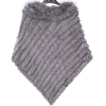 ZY82002 2016 جديد stylewomen الشتاء أزياء محبوك اللون الطبيعي الأرنب الفراء مع الراكون الفراء طوق كبير الحجم وطويلة المعطف 1