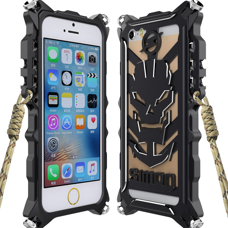 Simon Phone Case For iPhone 7 Thor IRON MAN Tough Armor Metal Aluminum Case For iphone 6 6s Plus 5 5S SE Case Back Cover Luxury