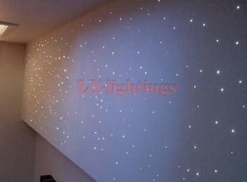 Mini decoration fiber optic light kit optical fiber lamp RGB room ceiling light stars night light personal car decoration light