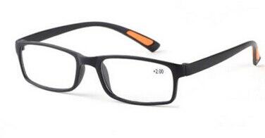Unisex Resin Framed Reading Glasses +1.00 1.50 2.00 2.50 3.00 3.50 4.00 Diopter Black Dark Brown 1
