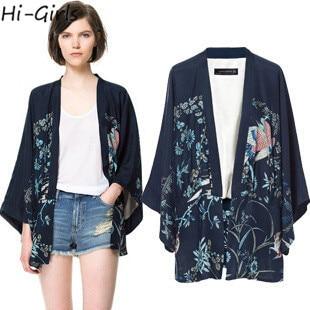 Hi Girls Kimono Fashion cardigan 2015 Kimono Jacket women blouse ...