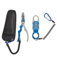 Hot Sale Fishing Set Aluminium Fishing Lip Grips Fishing Pliers Portable Fishing Tools Set Easy Carry