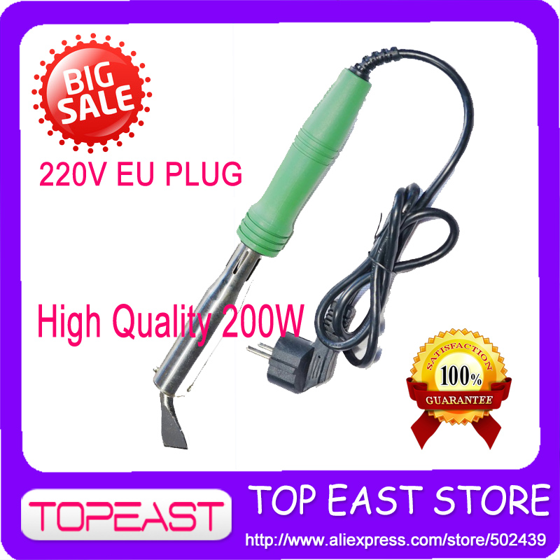 Free shipping 200w Popular Solder Tool 2 Round pin plug Europ plug Heat Soldering Iron 220V-240v - 200w High Quality [randomtext category=