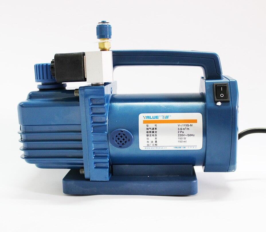 Подробнее о Free Shipping V-i115S-M reliable Hvac rotary-vane vacuum pump 220V 150W Suitable for R410A R134A R22 R407C R12 new 110v 60hz high reliable hvac rotary vane vacuum pump tw 1m suitable for r410a r134a r22 r407c r12