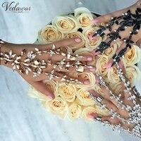 Vedawas Fashion Women Finger Bracelet 2017 Bohemian Crystal Charm Hand Chain Bracelet Bangle 3 Colors Jewelry