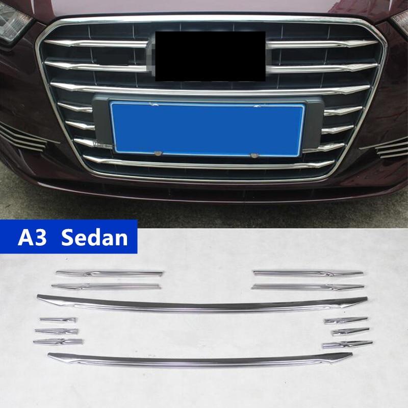 Exterior Car Part Names: For Audi A3 Sedan Car Front Air Grille Cover Trim Strips
