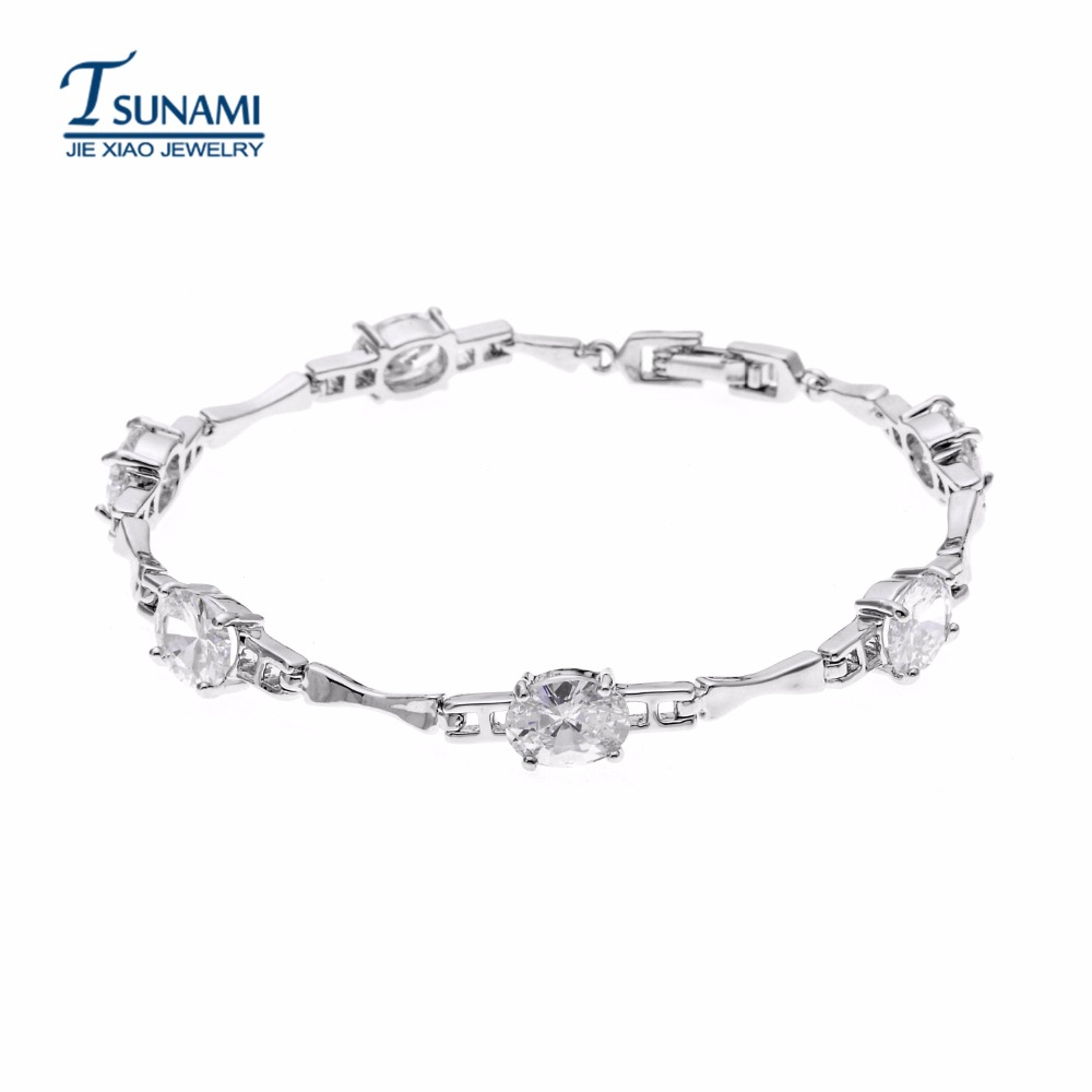 The top-quality AAA elliptical zircon bracelet A jewelry bracelet for all kinds of occasions-SL-013