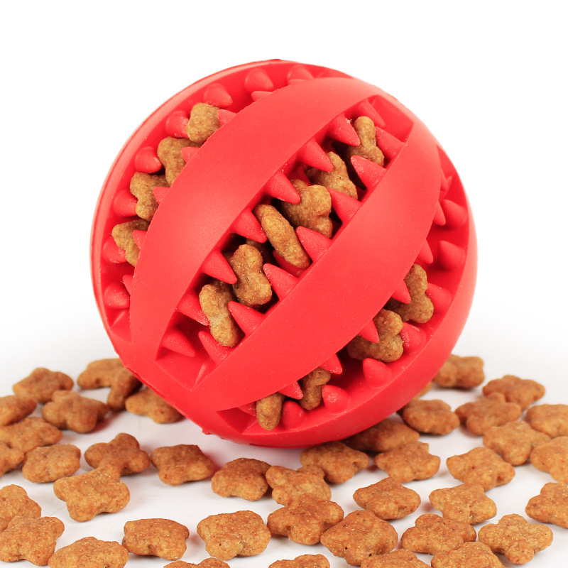 Funny Pet Dog Chew Toys Nontoxic Bite Resistant Toy Ball For Pet Dogs Puppy Dog Food Treat Feeder Tooth Cleaning Ball Chihuahua