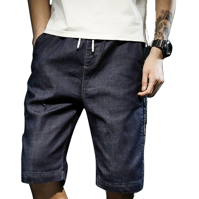 951802cbff5 Summer Casual Shorts Men Jeans Cargo Plus Size Knee Man Shorts Bermuda Jean  Breeches Men 7xl Big And Tall Short Ropa Hombre 6D45