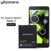 YILIZOMANA BM45 Original Phone Battery for Xiaomi Redmi Note 2 High Quality 3020mAh Replacement Batteries Retail Package
