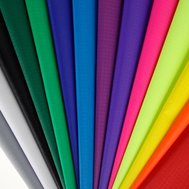 Hot Pink 10 Yards 100% Nylon Fabric 40D PU Coated Outdoor Waterproof Ripstop Nylon Fabric Kite Tent Making Fabric