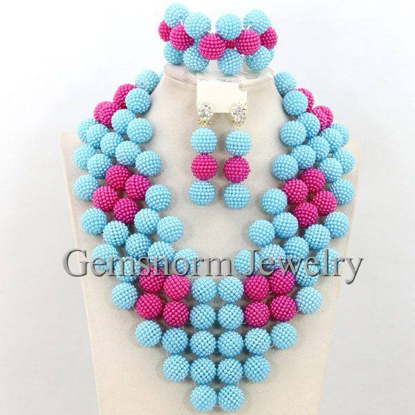 pearls balls gallery in bead beads and origami magenta disco necklace detail ball pink