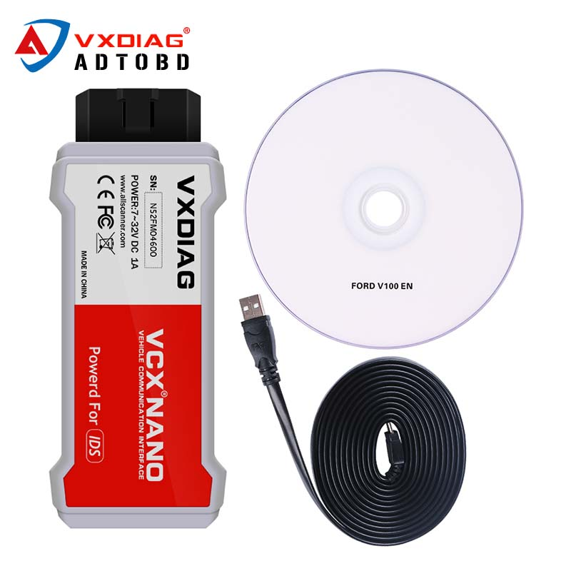 Newest VXDIAG VCX NANO with WIFI for Ford/Mazda 2 in 1 with IDS V100 V98 Better Than VCM II FOR FORD Free Shipping