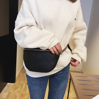 Women Waist Bag Fashion Woman's Chest Bags High Quality Leather Ladies Fanny Pack Black Chain Crossbody Bag Travel Mobile  Purse