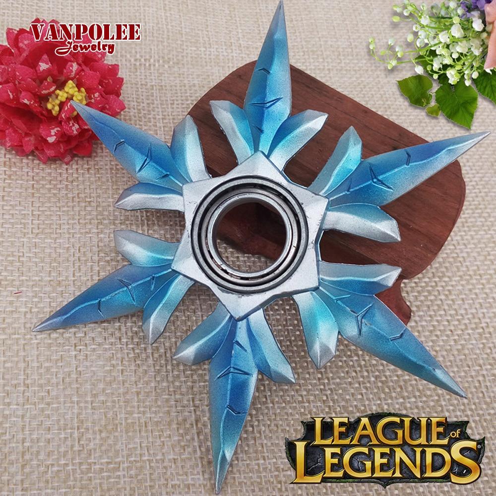 Joyas LOL Shadow Master Zed Shuriken Weapons Keychain League Of Legends Game Toys Darts Model Metal Pendants Kids Christmas Gift