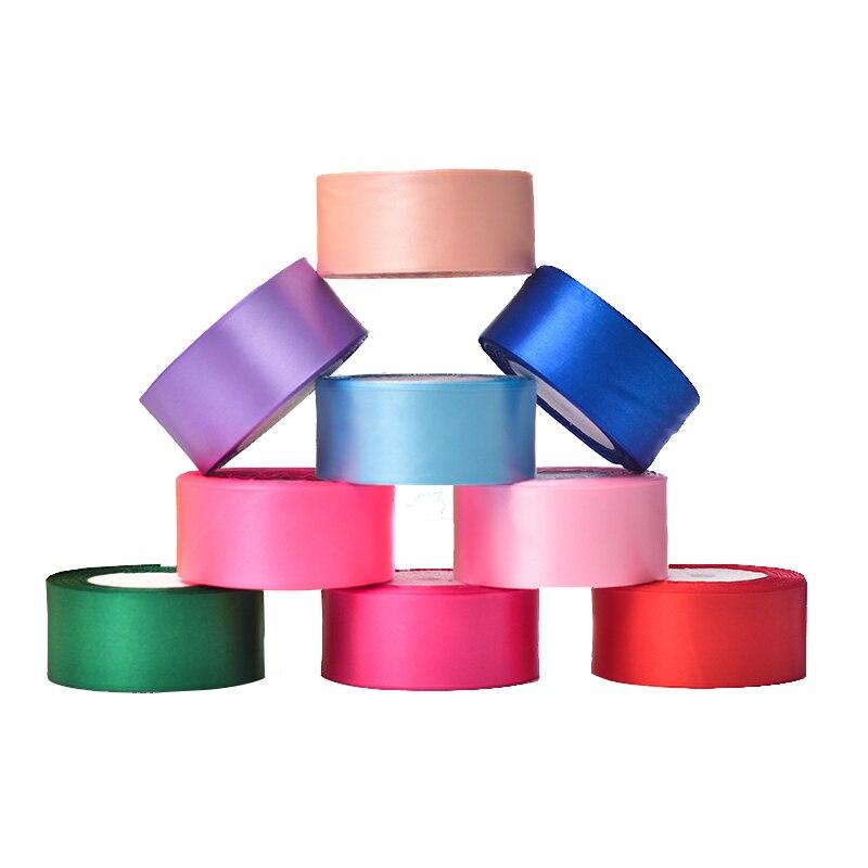 25 метров/рулон 40 мм атласные ленты DIY Лук Craft Декор Свадебная вечеринка украшения подарочной упаковки Скрапбукинг поставки торт лента