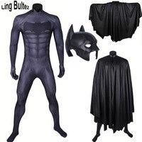 Ling Bultez High Quality Batman Costume Set Batman Suit With Batman Helmet With Batman Cape