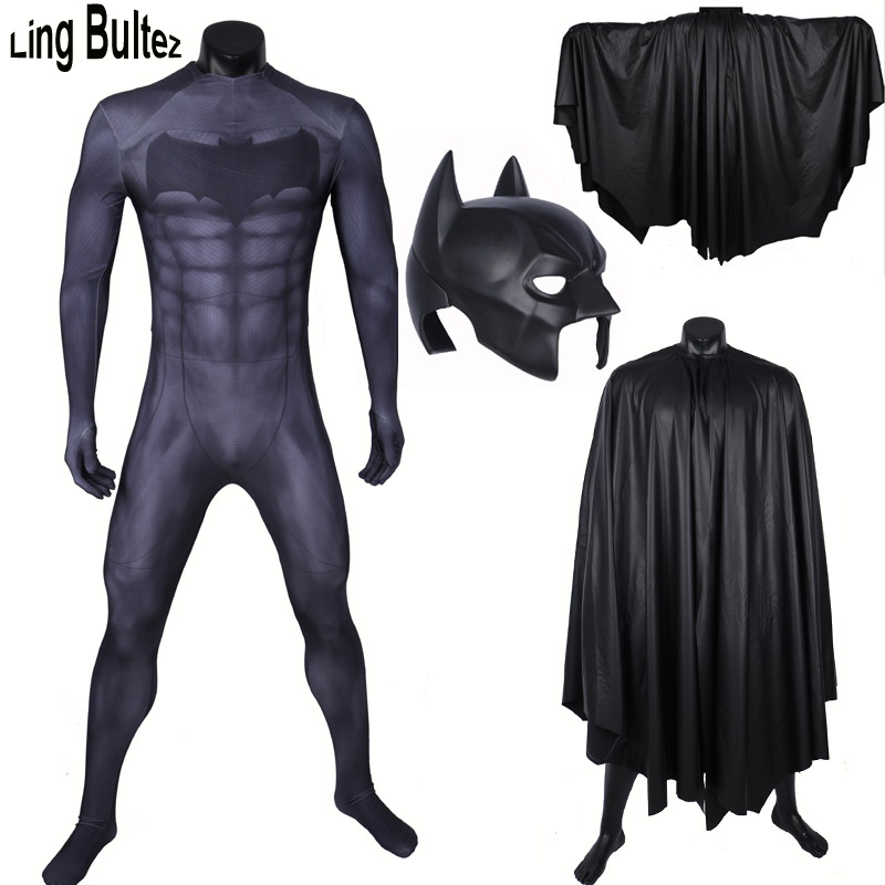 Ling Bultez High Quality Batman Costume Set Batman Suit With Batman Helmet With Batman Cape