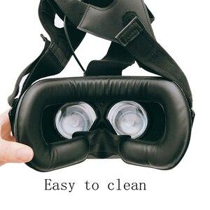 Image 5 - Für HTC vive/pro VR Speicher Gesicht Schaum Ersatz. Komfortable Pu Leder Kissen Pad, Erhöht FOV. 10*210*110mm